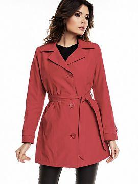 Farba Czerwony Dámske kabáty veľkej veľkosti Dámská móda f237a573e19