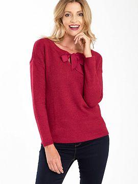 efaff2fca997 Farba Czerwony Zimné svetre 2019 Dámská móda
