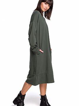4a1ec6fb5921 Farba Zielony Midi šaty Dámská móda